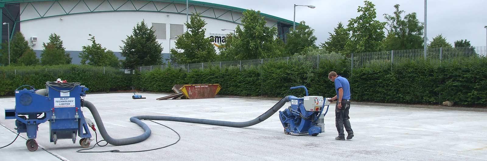 Car park surface preparation