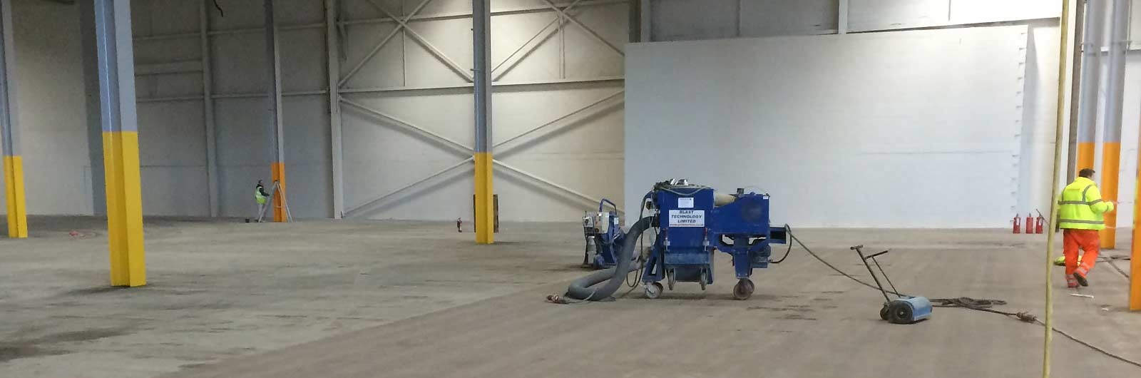 Warehouse floor preparation