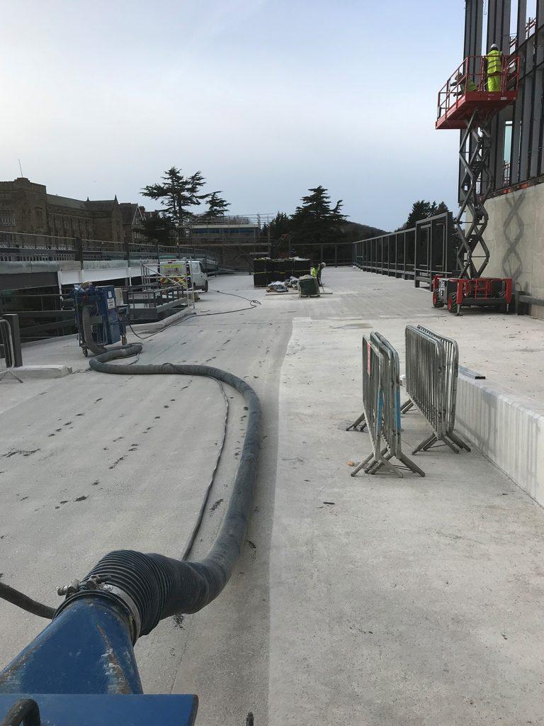 concrete floor prep works
