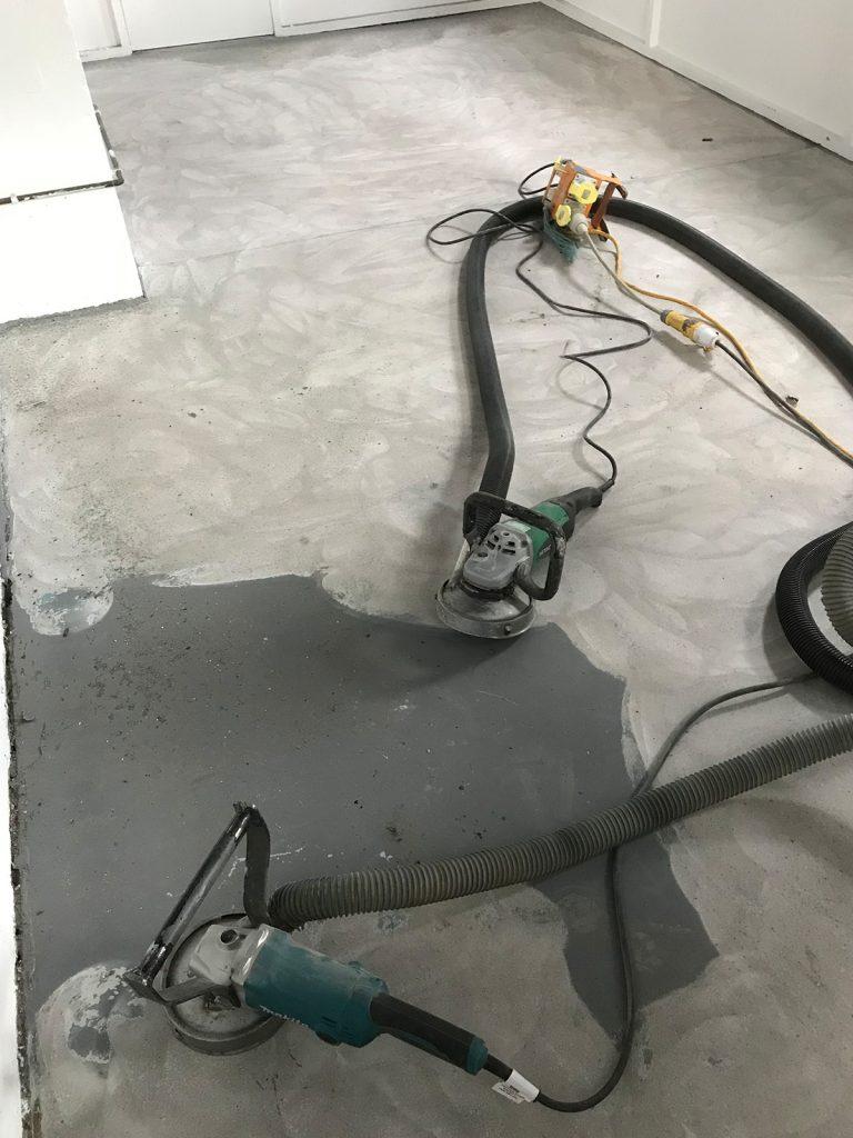 old industrial concrete floor sanding
