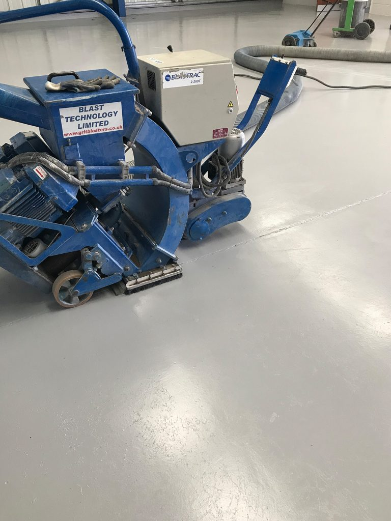 completed non-slip floor paint