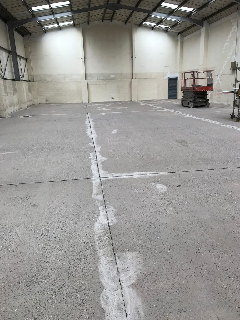 cleaning commercial concrete floor