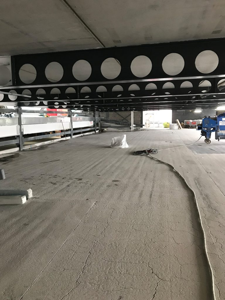 warehouse concrete floor cleaning