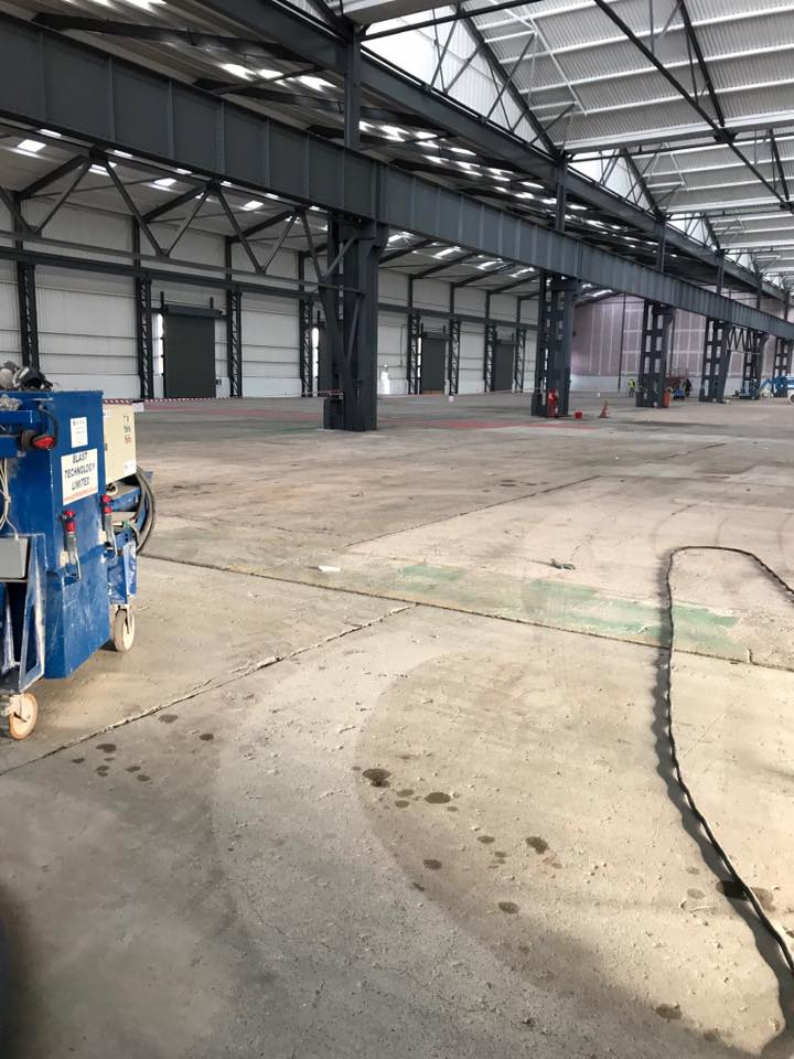 Removal Of Oil And Paint From 7000m2 Concrete Floor In