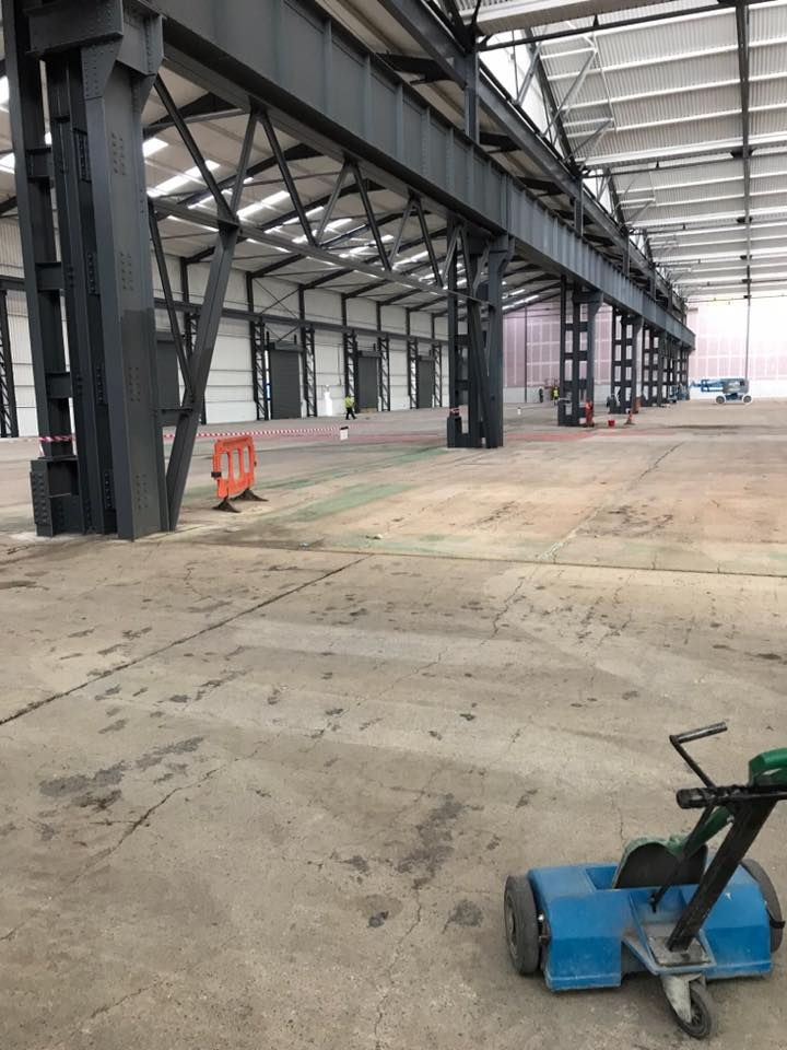 concrete floor shot blasting in Birmingham