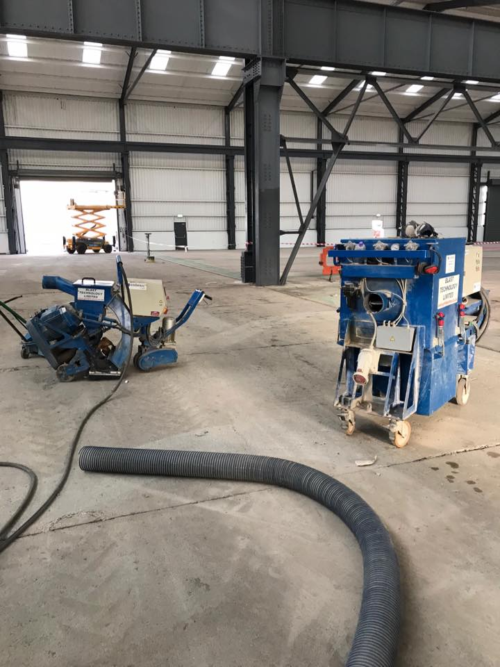 Some of our captive shot blasting equipment