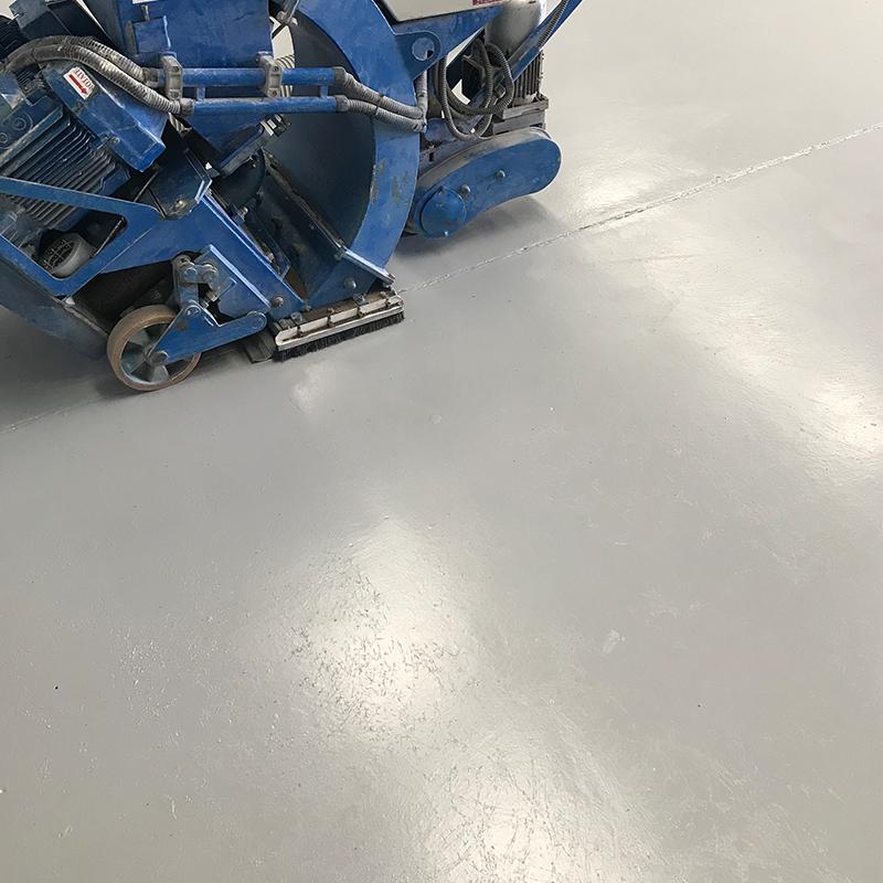 painting non slip large concrete floor