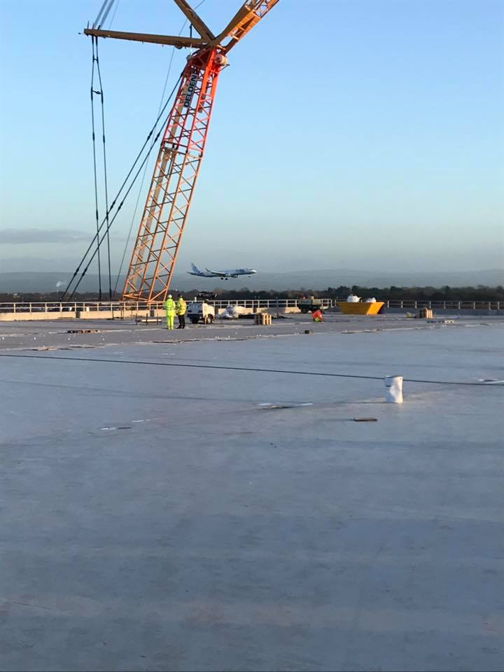 Shot blasting of new Manchester Airport Car Park