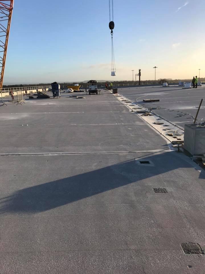 34,000m2 of concrete carpark shot blasting